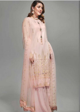 Yes Clothing | Yes - Young Energetic Social Embroidered Poly Net Unstitched 3 Piece Suit YS20SF CHINTZ ROSE - Formal Collection