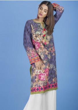 Yusra Ansari Embroidered Lawn Stitched Kurti YA20EF YA-05 Chicberry