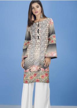 Yusra Ansari Embroidered Lawn Stitched Kurti YA20EF YA-06 Mystic Hues