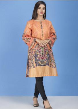 Yusra Ansari Embroidered Lawn Stitched Kurti YA20EF YA-09 Flouresecent Orange