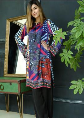 Yusra Ansari Fancy Silk Stitched Kurti YA20EG Yn-03 (Aatish)
