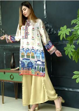Yusra Ansari Fancy Silk Stitched Kurti YA20EG Yn-04 (Dor-e-Mughal)