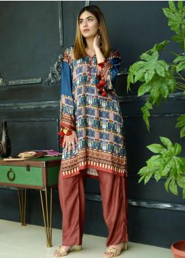 Yusra Ansari Fancy Silk Stitched Kurti YA20EG Yn-05 (Soghat-e-Misr)