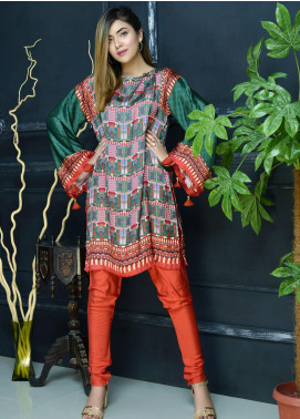 Yusra Ansari Fancy Silk Stitched Kurti YA20EG Yn-08 (Falak Naaz)