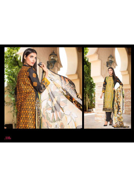 Al Zohaib Embroidered Lawn Unstitched 3 Piece Suit ZA PL 10B