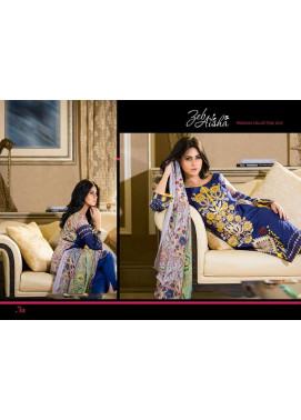 Al Zohaib Embroidered Lawn Unstitched 3 Piece Suit ZA PL 3A