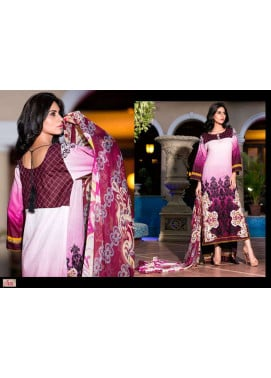 Al Zohaib Embroidered Lawn Unstitched 3 Piece Suit ZA PL 4A
