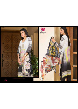Al Zohaib Embroidered Lawn Unstitched 3 Piece Suit ZA PL 4B