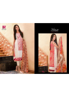 Al Zohaib Embroidered Lawn Unstitched 3 Piece Suit ZA PL 8A