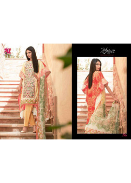 Al Zohaib Embroidered Lawn Unstitched 3 Piece Suit ZA PL 8B