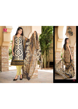 Al Zohaib Embroidered Lawn Unstitched 3 Piece Suit ZA PL 9A