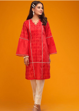 Zaaviay Screen Print Lawn Stitched Kurtis 017 FOREVER RED