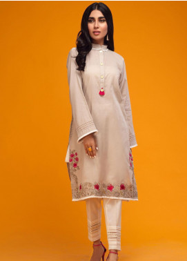 Zaaviay Embroidered Lawn Stitched Kurtis 022 MYSTIC ROSE