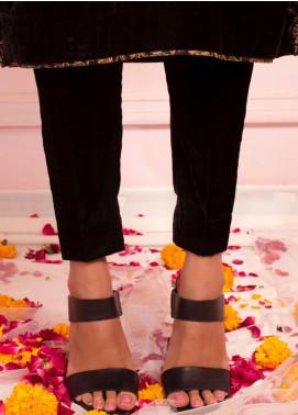 Zaaviay Fancy Velvet Stitched Trousers ZSC-035 BLACK VELVET PANTS