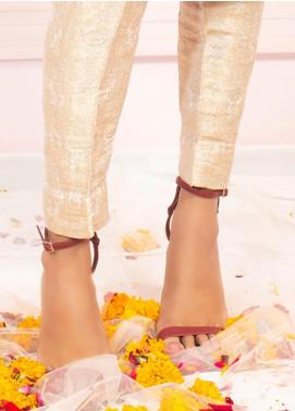 Zaaviay Fancy Banarsi Stitched Trousers ZSC-060 LIGHT GOLD BANARSI PANT