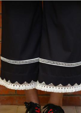 Zaaviay Fancy Lycra Stitched Trousers ZW20P ZDT-005 BLACK & WHITE CULOTTES