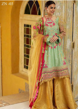 Zah-e-Naseeb by Asifa & Nabeel Embroidered Missouri Unstitched 3 Piece Suit AN20ZN 03 NAZNEEN - Festive Collection