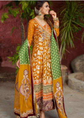 Zah-e-Naseeb by Asifa & Nabeel Embroidered Zari Unstitched 3 Piece Suit AN20ZN 05 BANO - Festive Collection