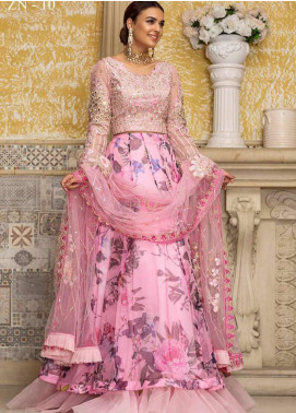 Zah-e-Naseeb by Asifa & Nabeel Embroidered Organza Unstitched 3 Piece Suit AN20ZN 10 MADNO - Festive Collection