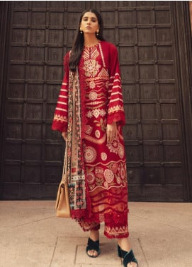 Modern Scapes by Zaha Embroidered Khaddar Unstitched 3 Piece Suit ZKS20W 05 AAFREEN - Winter Collection
