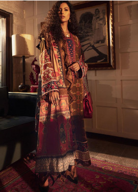 Modern Scapes by Zaha Embroidered Khaddar Unstitched 3 Piece Suit ZKS20W 12 JANAN - Winter Collection