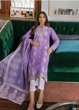 Zaha by Khadijah Shah Embroidered Lawn Unstitched 3 Piece Suit ZKS20M ZF20 01 SANAZ - Eid Collection