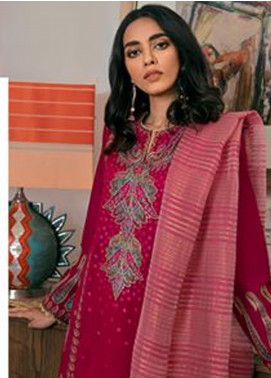 Zaha by Khadijah Shah Embroidered Lawn Unstitched 3 Piece Suit ZKS20M ZF20 03 ANAHITA - Eid Collection