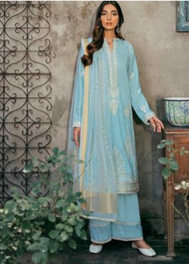 Zaha by Khadijah Shah Embroidered Lawn Unstitched 3 Piece Suit ZKS20M ZF20 05 SEPEHR - Eid Collection