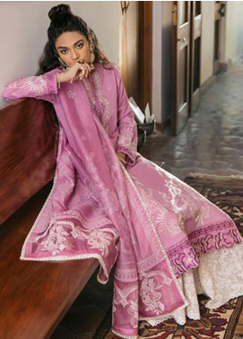 Zaha by Khadijah Shah Embroidered Lawn Unstitched 3 Piece Suit ZKS20M ZF20 06 FERIZIYA - Eid Collection