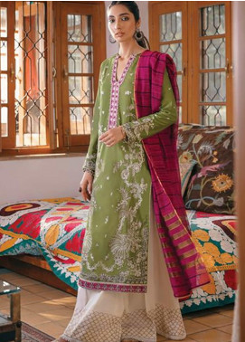 Zaha by Khadijah Shah Embroidered Lawn Unstitched 3 Piece Suit ZKS20M ZF20 08 NILUFER - Eid Collection