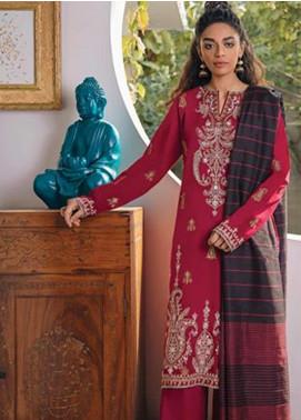 Zaha by Khadijah Shah Embroidered Lawn Unstitched 3 Piece Suit ZKS20M ZF20 10 LERMIZ - Eid Collection