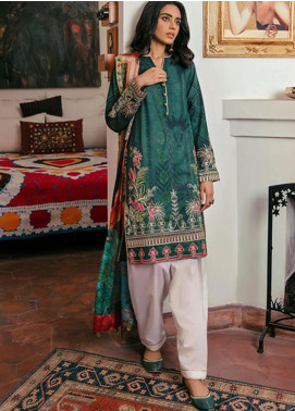 Zaha by Khadijah Shah Embroidered Lawn Unstitched 3 Piece Suit ZKS20M ZF20 15 GUL BAHAR - Eid Collection