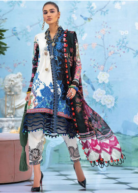 Zaha by Khadijah Shah Embroidered Lawn Unstitched 3 Piece Suit ZKS20L 15 - Spring / Summer Collection
