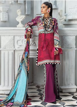 Zaha by Khadijah Shah Embroidered Lawn Unstitched 3 Piece Suit ZKS20L 18 - Spring / Summer Collection