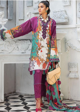 Zaha by Khadijah Shah Embroidered Lawn Unstitched 2 Piece Suit ZKS20L 2 - Spring / Summer Collection