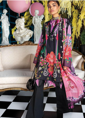 Zaha by Khadijah Shah Embroidered Lawn Unstitched 2 Piece Suit ZKS20L 20 - Spring / Summer Collection