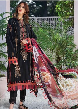 Zaha by Khadijah Shah Embroidered Lawn Unstitched 3 Piece Suit ZKS20L 22 - Spring / Summer Collection