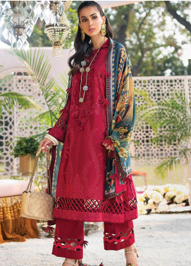 Zaha by Khadijah Shah Embroidered Lawn Unstitched 3 Piece Suit ZKS20L 23 - Spring / Summer Collection