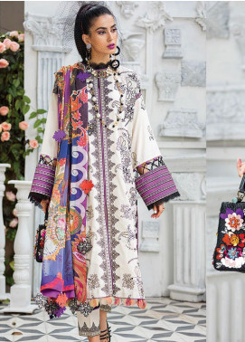 Zaha by Khadijah Shah Embroidered Lawn Unstitched 3 Piece Suit ZKS20L 25 - Spring / Summer Collection