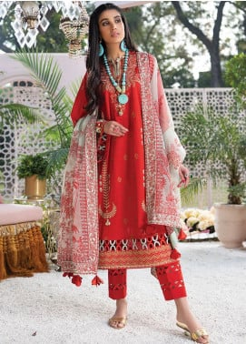 Zaha by Khadijah Shah Embroidered Lawn Unstitched 3 Piece Suit ZKS20L 26 - Spring / Summer Collection