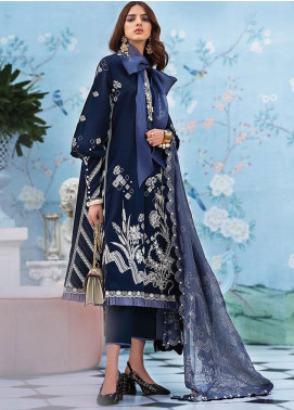 Zaha by Khadijah Shah Embroidered Lawn Unstitched 3 Piece Suit ZKS20L 28 - Spring / Summer Collection