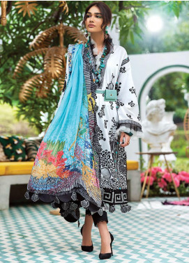 Zaha by Khadijah Shah Embroidered Lawn Unstitched 3 Piece Suit ZKS20L 29 - Spring / Summer Collection