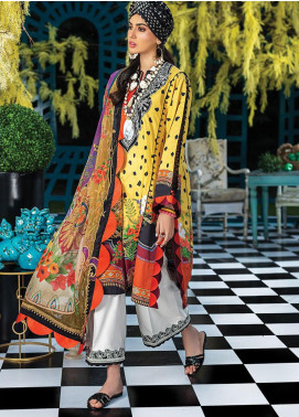 Zaha by Khadijah Shah Embroidered Lawn Unstitched 3 Piece Suit ZKS20L 3 - Spring / Summer Collection