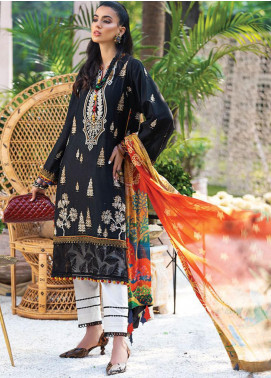 Zaha by Khadijah Shah Embroidered Lawn Unstitched 3 Piece Suit ZKS20L 30 - Spring / Summer Collection