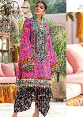 Zaha by Khadijah Shah Embroidered Lawn Unstitched 2 Piece Suit ZKS20L 31 - Spring / Summer Collection