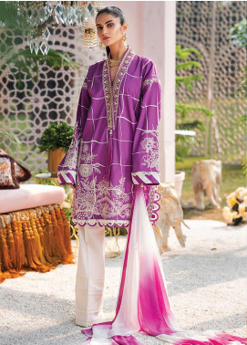 Zaha by Khadijah Shah Embroidered Lawn Unstitched 2 Piece Suit ZKS20L 32 - Spring / Summer Collection
