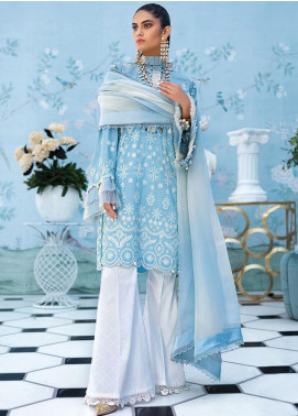 Zaha by Khadijah Shah Embroidered Lawn Unstitched 2 Piece Suit ZKS20L 33 - Spring / Summer Collection