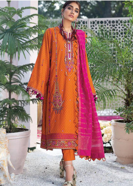 Zaha by Khadijah Shah Embroidered Jacquard Unstitched 3 Piece Suit ZKS20L 34 - Spring / Summer Collection