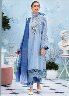 Zaha by Khadijah Shah Embroidered Jacquard Unstitched 3 Piece Suit ZKS20L 35 - Spring / Summer Collection
