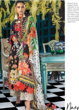 Zaha by Khadijah Shah Embroidered Lawn Unstitched 3 Piece Suit ZKS20L 5 - Spring / Summer Collection